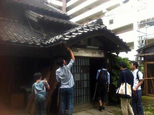 松戸駅前の古民家、旧・原田米店
