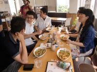 塩麹パスタやタコライスを頂きながら、わいわい松戸レクチャー!今回のご参加者はみなさん初松戸でした。