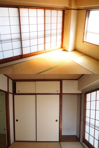 上:東側和室 下:和室収納