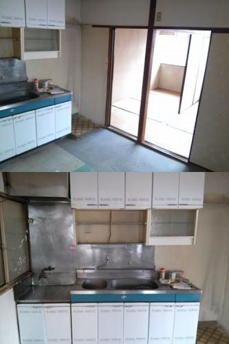 キッチン部分。