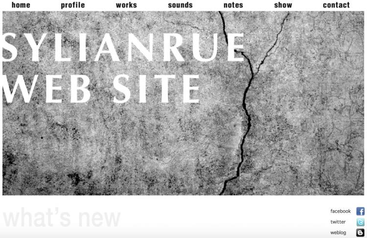 SYLIANRUEのウェブサイト。