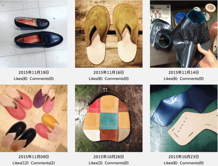 ももはら靴工房で製作した靴と小物。