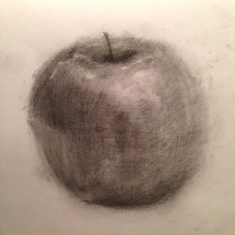 講師が制作。画用紙に鉛筆(HB・2B)、制作時間15分