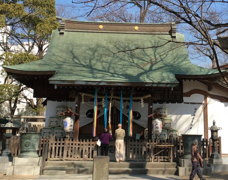 松戸の土地と文化のエッセンスと言える松戸神社。