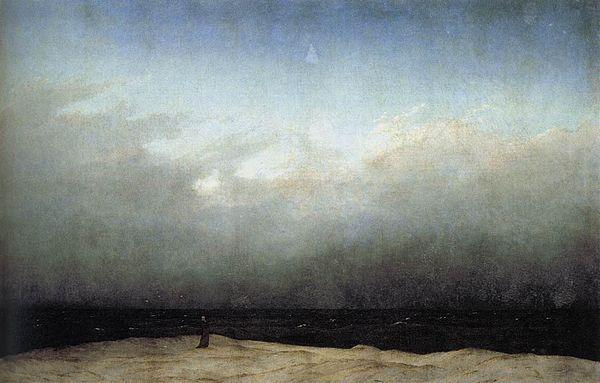 カスパー・ダーヴィト・フリードリヒ《海辺の僧侶》1808-1810年