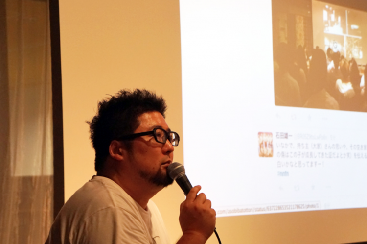 昨年8月に渋谷ヒカリエで開催された、「ニュー不動産展」で登壇する森岡さん。