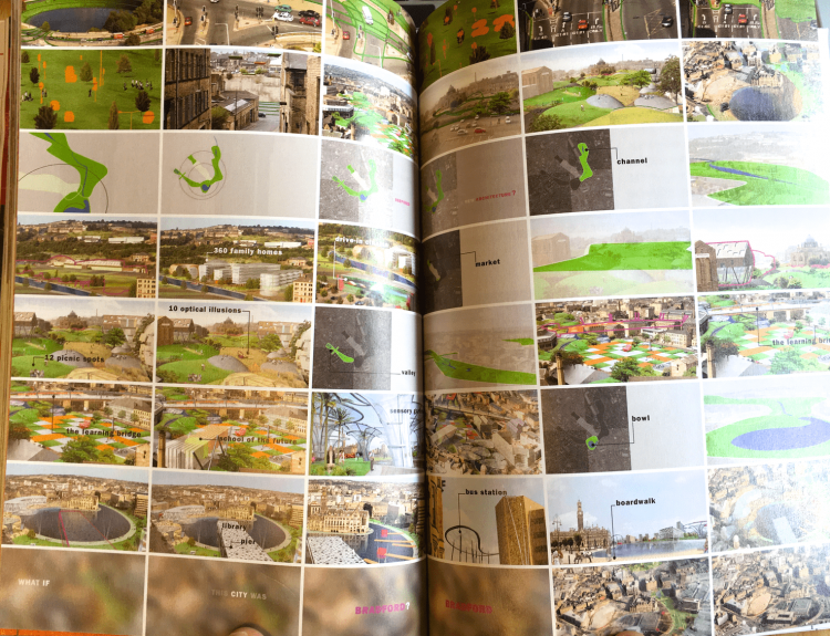 映像作品「Picture a City」のコマ送り。都市再生マスタープランが描き出す都市の未来を伝えています。