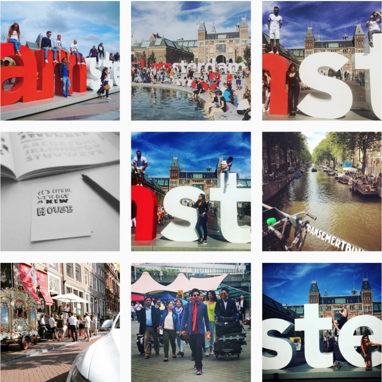 Instagramで「I amsterdam」というハッシュタグを検索してみると、あの立体ロゴの前で写真を撮る人たちがたくさん。街の日常風景も混じっているのも印象深いです。
