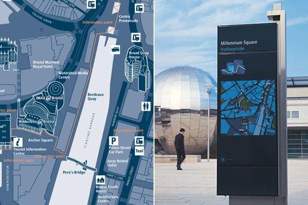 統一された色とフォントは、都市をわかりやすくするためのデザインです。
