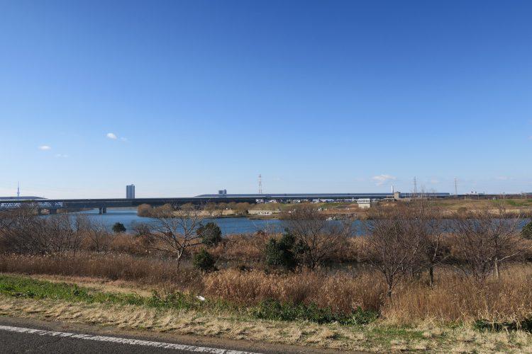 松戸駅から西へ7分ほど歩くと江戸川河川敷に着きます。