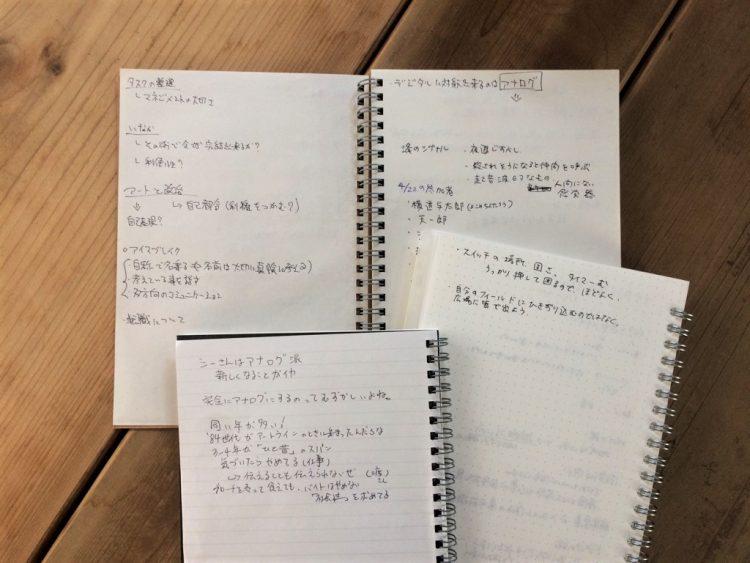 このイベント時に書き残していく3冊のノート
