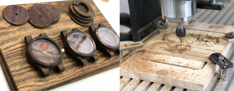誕生したオリジナルブランド「一松工芸」では、木製の腕時計が誕生、百貨店等での販売も果たしました。