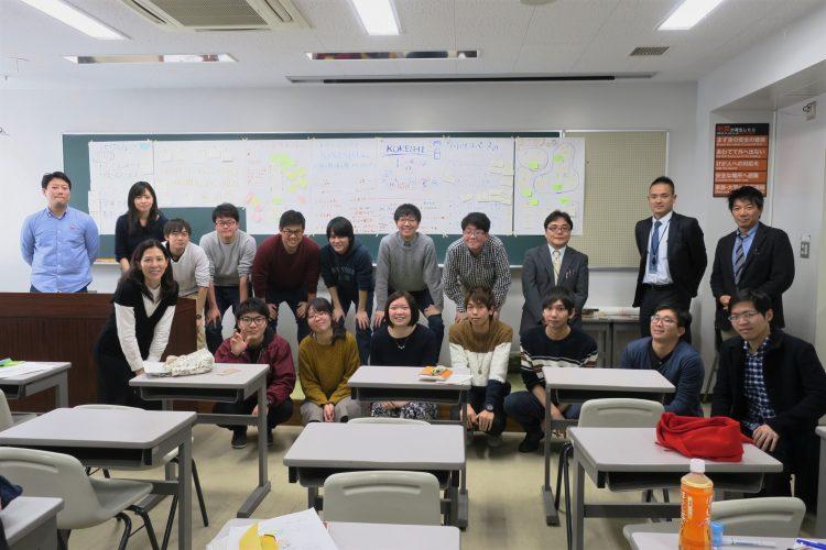 1月に行われた講義とワークショップでは、学生の皆さんにこけし荘の活用プランを出し合ってもらいました。